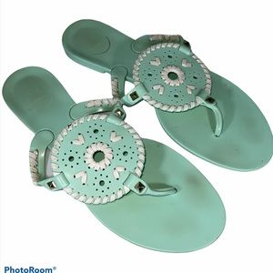 Jack Rogers Jelly Sandals Mint Green Size 10